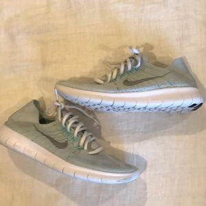 Nike Shoes - Nike Free RN Flyknit Light Blue Sneakers